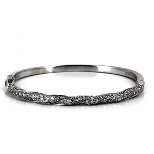Bracelet rigide torsade