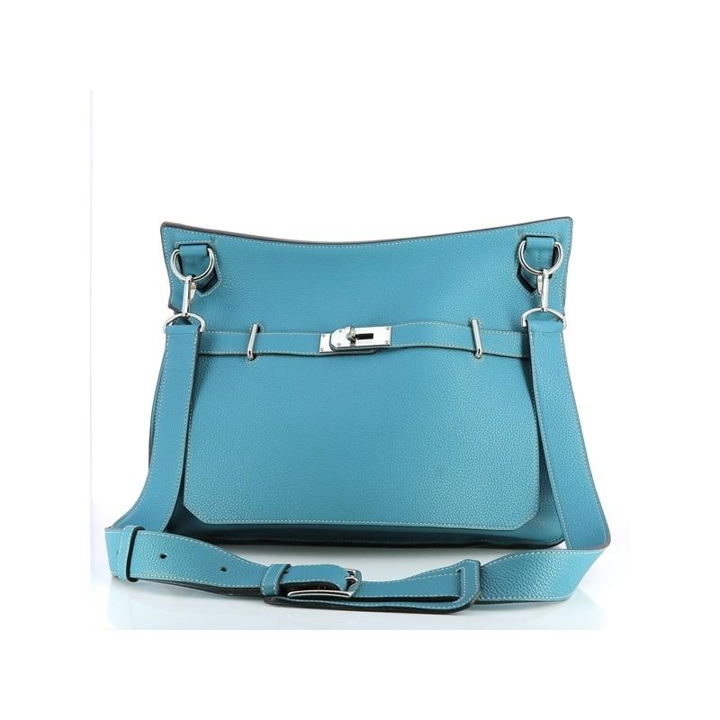 Sac Gm 35 Cuir Clémence Taurillon Jypsière En Hermès Bleu Pk8OXn0Nw