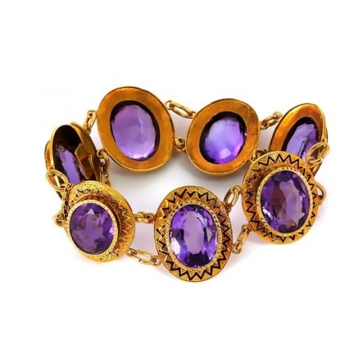Bracelet pierre violettes