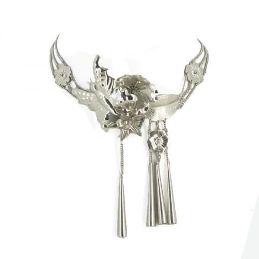 Collier Dior en métal argenté