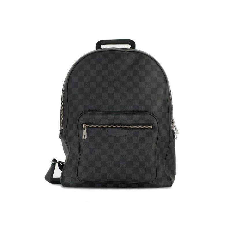 baskets pour pas cher 1f5e0 70c78 Sac à dos Louis Vuitton Josh en toile damier