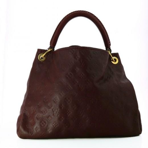 660d337ff16 Sac Louis Vuitton Artsy en cuir empreinte bordeaux