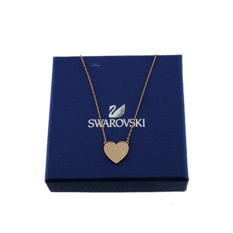 Collier Swarovski Coeur en plaqué or rose