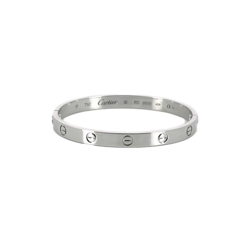 Bracelet En K 18 Or Cartier Blanc Love 3Rq5AjSLc4
