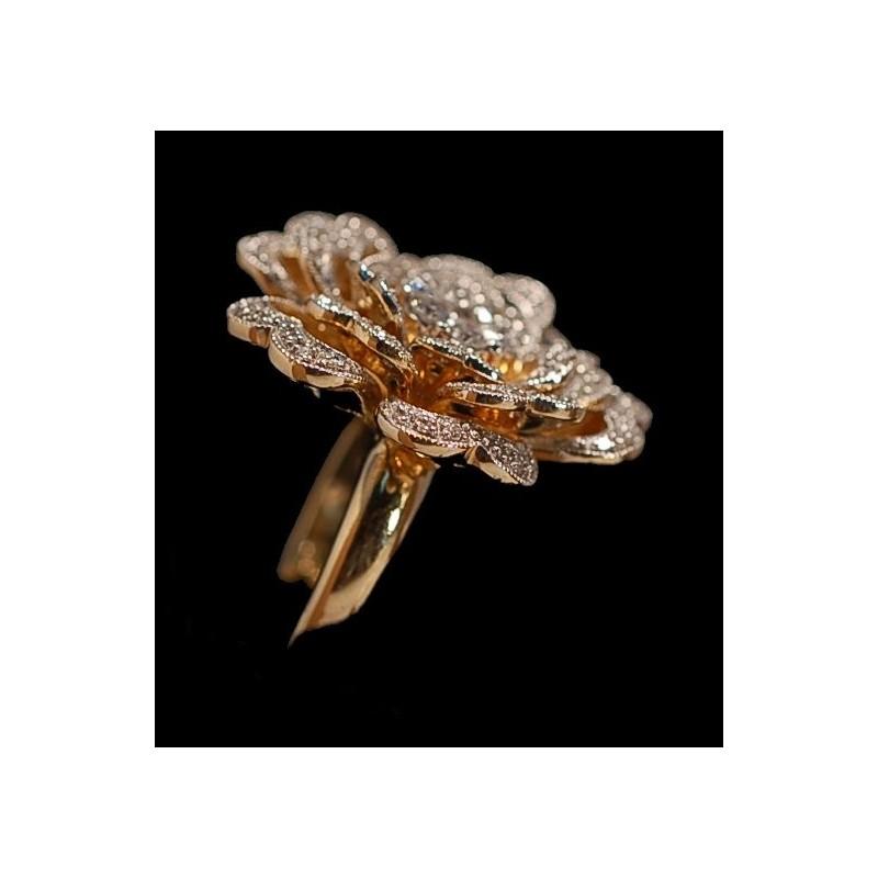 bague en or 18k fleur diamant e chez cbbo bordeaux. Black Bedroom Furniture Sets. Home Design Ideas