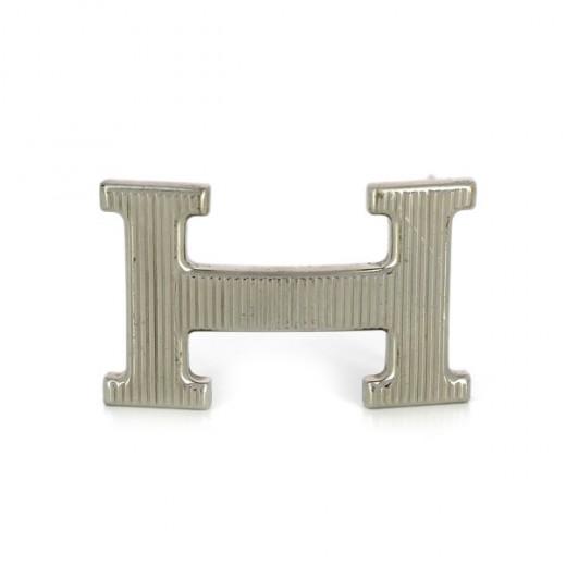 a41d8543b5e7 Boucle de ceinture Hermès H strié