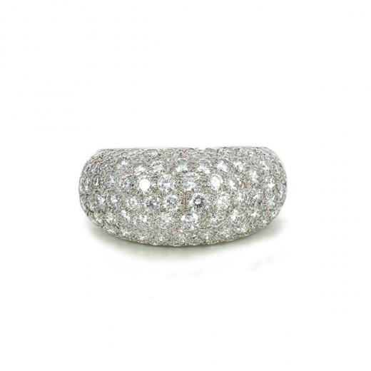 livraison rapide design élégant vente la moins chère Bague Cartier Métissage Diamants en or blanc