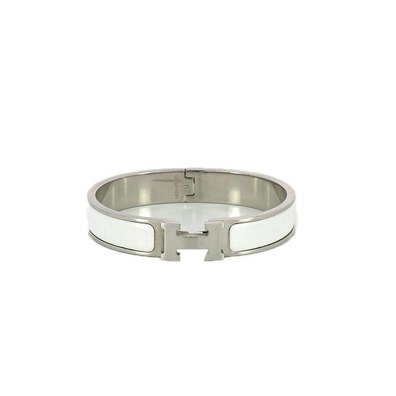 Bracelet Hermès Clic H blanc 571f86fc1d3
