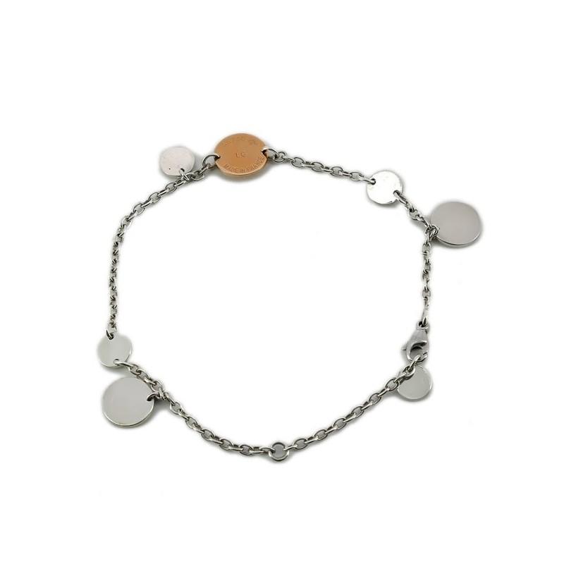 f16bd3a0a2a ... Bracelet Hermès Confettis en argent et or rose. Nouveau
