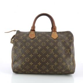 Sac porté épaule ou main Louis Vuitton Sheerwood en cuir vernis monogram  bordeaux Louis Vuitton Sac Louis Vuitton Speedy 30. b5db9d22ca2
