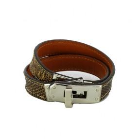 bff1fe7ceb6 Bracelet Hermès Kelly double tour en cuir de.