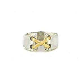6f4e33b829 Bague Hermès Mexico en argent et or jaune