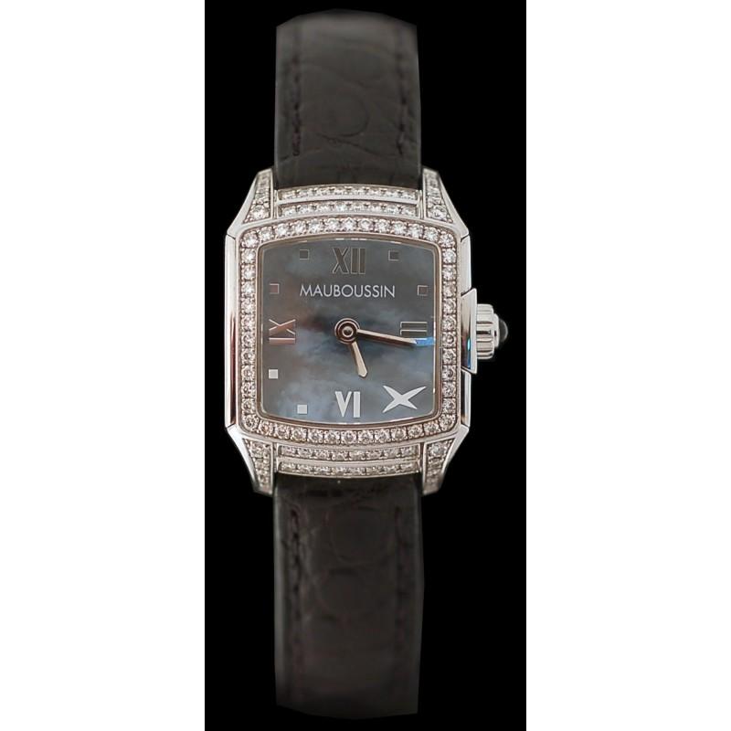 grand assortiment une grande variété de modèles factory Montre Mauboussin Délicate nacre et diamants