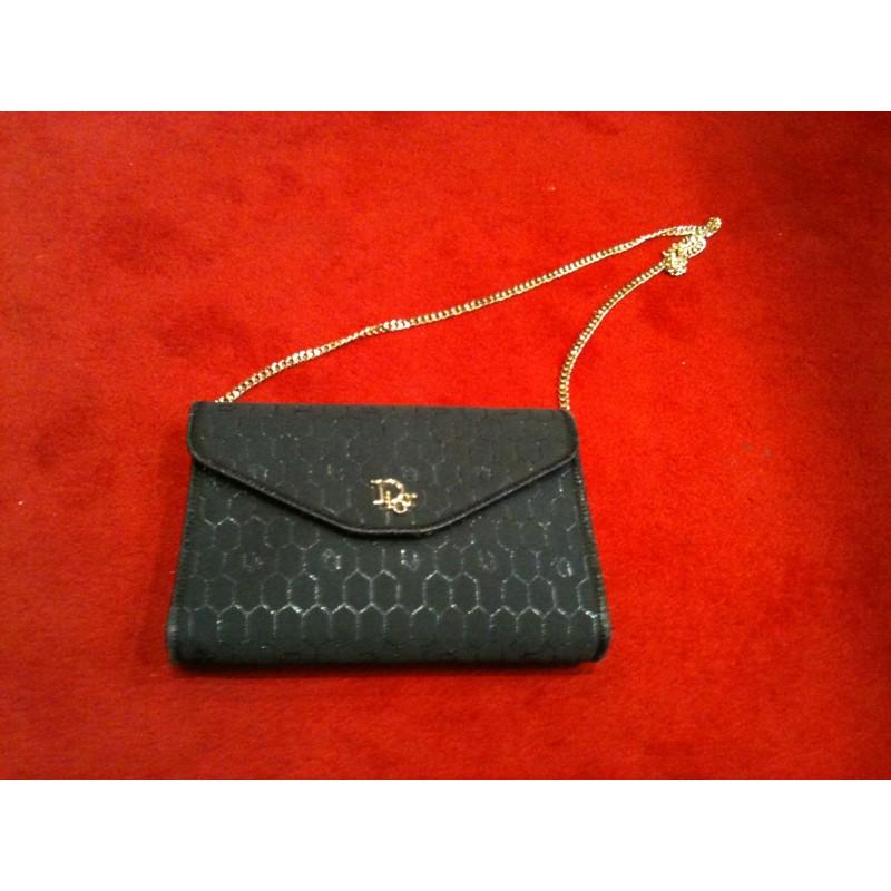 hot product reasonable price sale usa online Sac Dior de soirée vintage toile logo et cuir noir