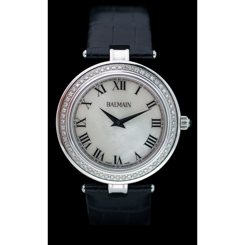 bracelet cuir montre balmain