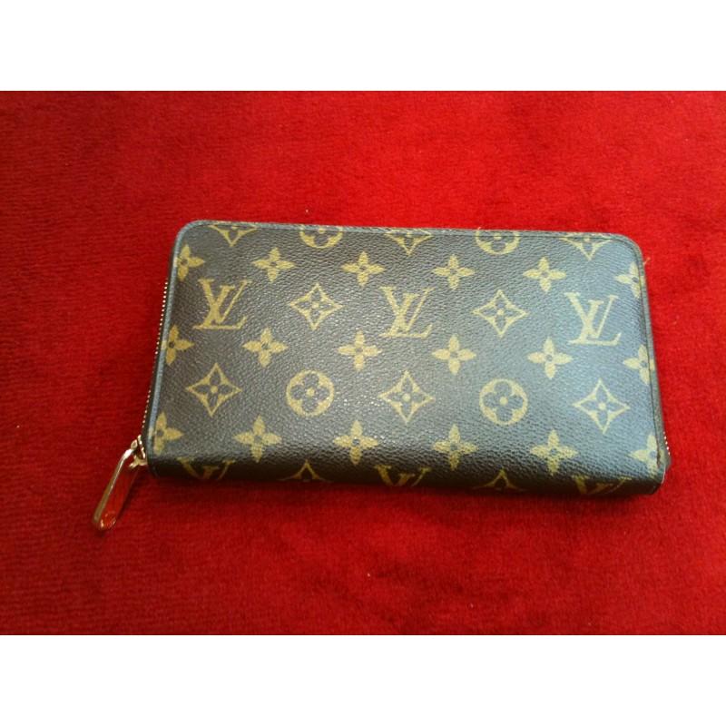 Portefeuille zippé Louis Vuitton Zippy en toile monogram f94601806ad