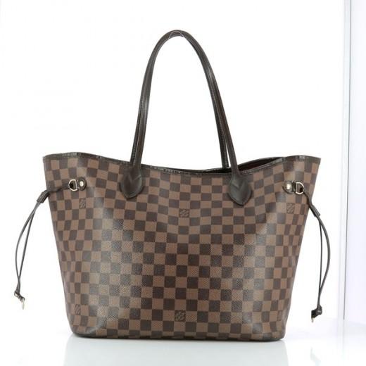 b13faff1d9 Sac Louis Vuitton Neverfull MM en toile damier